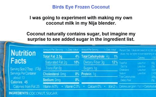birdseye frozen coconut