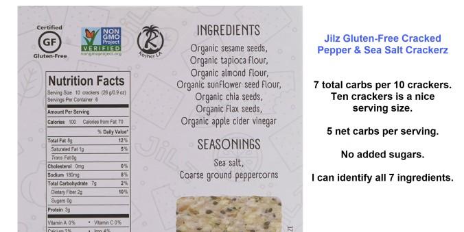 Gluten-Free Cracked Pepper & Sea Salt Crackerz