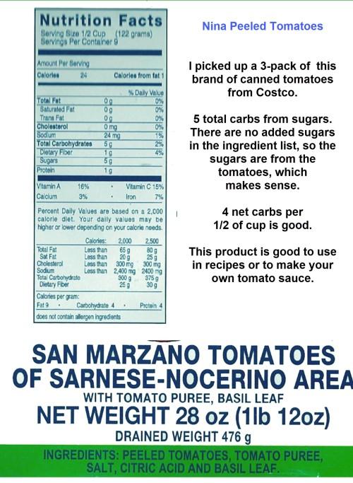 nina san marzano tomatoes