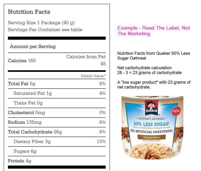 nutrition label dont believe the marketing