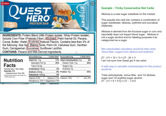 nutrition label quest bar