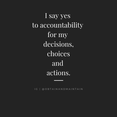 i say yes to accountability